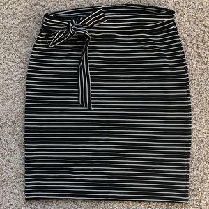 NWOT Loft Fitted Striped Skirt